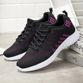 Large Size Women Breathable Air Mesh Lace Up Running Casual Shoe