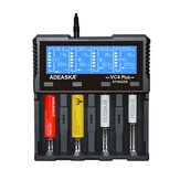 ADEASKA VC4 PLUS Intelligente LCD Display USB Batteria Caricabatterie per IMR / Li-ion Ni-MH / Ni-Cd / LiFePO4 Batteria