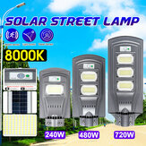 240W 480W 720W LED Street Light Gray Shell 2835 Solar Lamp PIR Motion Radar Sensor Waterproof Garden Lighting