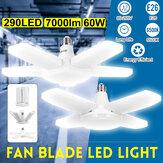 60W E26 LED Cuchillas Garaje Bombilla Taller Deformable Ajustable Lámpara 85-265V