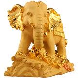 Resina de la mascota tradicional china Lucky Wealthy Elephant Statue Sculpture Decoraciones de la sala
