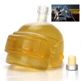 PUBG Playerunknown's Battlegrounds 3 poziomy Kask Wine Flagon Wine Pot Wine Jug High Borokrzemian Glass Wódka Bottle Gift For Friends