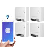 4 шт. SONOFF MiniR2 Двухсторонний интеллектуальный коммутатор 10A AC100-240V Работает с Amazon Alexa Google Home Assistant Nest поддерживает режим DIY Позволяет Flash прошив