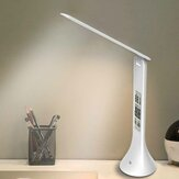 Bakeey LED Mini Desk Lamp Light Rechargeable with Digital Clock Touch Dimmable