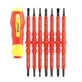 Drillpro 7pcs électronique isolé main tournevis outils accessoires ensemble