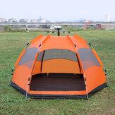 Напольный автоматический шатер Пляжный укрытие солнца UV Защита 5-8 человек семейный шатер на Кемпинг