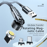 Essager 540 Rotate Magnetic Data Cable 3A USB Type-C Linea di ricarica rapida per OnePlus 8Pro 8T Huawei P30 P40 Mate 40 Pro