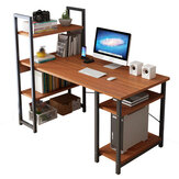 Computador Desktop Desk Mesa simples com combinação de estante One Mesa Student Simple Home Double Writing Desk para home office
