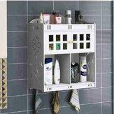 ウォールマウントキャビネットデスクトップオーガナイザーボックスに掛かっているバスルーム化粧品ストレージ