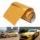 10cmx150cm Oro Vinile Avvolgere Film adesivo auto Decal Air Bubble gratuito