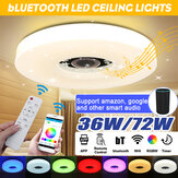WIFI LED Ceiling Light 256 RGB bluetooth Music Speaker Dimmable Lamp Remote