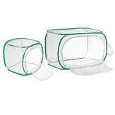 Green Collapsible Insect Habitat Cage Butterfly Mesh Transparent Surface Portable Zipper Cage Plant Breeding Net Prey Storage Basket Anti Bird Net