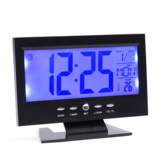 Digital Alarm Clock with LCD Display Voice-activated Backlight Electric Clock
