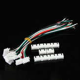 10Pcs XH Pitch 2.54mm Single Head 4Pin 4Way Wire To Board Connector 15cm 24AWG With Socket