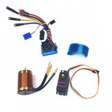 HSP Off-Road Vehicle Brushless 3300/3930/4370KV RC Car Motor 120A ESC Servo For 1/8 1/10 RC Car