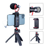 UALNZI Smartphone Video Kit I SAIREN Q1 Microphone Ulanzi 0848 Mini Tripod ST-06 Phone Holder Youtube Video Vlogging Accessories