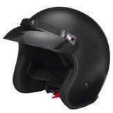 Capacete de segurança para motocicleta meia face com viseira preta fosca M / L / XL / XXL universal