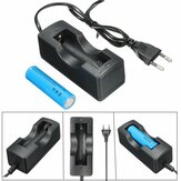 1Pcs 18650 Battery+Charger Set,EU Plug with Plug Adapter