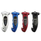 5 in 1 LCD Digital Tire Pressure Gauge Night Lighting Hammer Cutter Deflation Needle Function