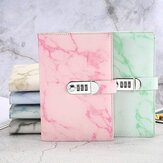 A5 Notebook Paper Vintage Leather Marbling Diary Journal with Combination Password Lock Code Notebook
