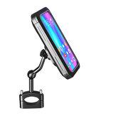 BIKIGHT Soporte para teléfono para bicicleta Soporte de navegación ABS Impermeable Ajustable al aire libre Accesorios para ciclismo y motocicleta