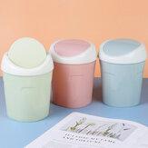Bakeeyクリエイティブプラスチック収納ビン家庭用ミニデスクトップゴミ箱リビングルームテーブルベッドサイドフリップゴミ箱