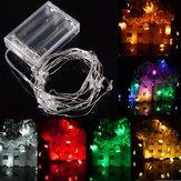2m 20 LED alimentado por bateria boneco de luz de fadas corda para a decoração da festa de natal weddinng