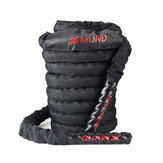 XMUND XD-BR1 Battle Rope  Exercise Training Rope 30ft Length Workout Rope Fitness Strength Training Home Gym Outdoor Cardio Workout, Anchor Kit Included