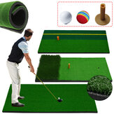 Golf Mat Simulated Lawn Home Residential Golf Backyard Practising Pad Indoor Swing Practice Mat With Golf Ball Rubber Training Tee Holder