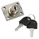 Desk Drawer Dead Bolt Lock Voor Drawers Box Cabinet Cupboards Panel With Two Keys