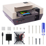 NESPi 4 Case Raspberry Pi 4 Case with SSD Cartridge Adapter Cooling Fan Heatsink for Raspberry Pi 4 ModelB Nespi4 Case