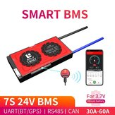 DALY BMS 7S 24V 30A 40A60AリチウムイオンバッテリーパックスマートBMSLCDモジュール18650Bluetooth UART RS485 CANBMSシステムバランス付き