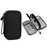 Double couches sac de rangement numérique sac d'accessoires électronique étui étanche organisateur de câbles sac pour chargeur batterie externe de disque dur