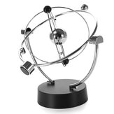 Silver Orbital Desk Decoration Celestial Pendulum
