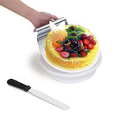28cm Rotante Cake Glace Decorating Girevole Display Stand Turntable Smoother