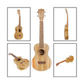 IRIN 21/24/26 Inch Natural Color Wood Ukulele for Beginner