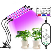Agrafe à intensité variable 1/2/3 LED Bonsai Plants Grow Lamp 360 ° Fexible Goosenecks IP66 Waterproof 3 Timer Mode Growing Light for Greenhouse Hydroponics