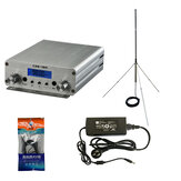 CZH-15A CZE-15A FU-15A 15W FM Stereo PLL Trasmettitore Broadcast FM Exciter 88Mhz - 108Mhz + GP 1/4 Wave Antenna + PowerSource