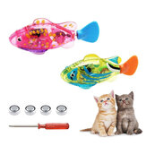 Pets Robotic Fish Activated Battery Powered Robotic Pet Toys for Fishing Tank Decorating Fish