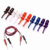10pcs Multimeter Wire Lead Test Hook Clip Electronic Mini Test Probe Set Red White Blue Black Purple For Repair Tool