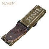 NAOMI Guitar Strap Guitar Accessories Adjustable Shoulder Strap Musical Instrument Parts Dark Green