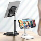 IPAKY Desktop 3-Port USB-Ladegerät Faltbarer, höhenverstellbarer Telefonhalter Tablet-Ständer für 4,0-12,9 Zoll Smartphone-Tablet für iPhone 11 SE 2020 für iPad Pro 12,9 Zoll 2020 Online-Kurs Live-Stream