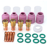 26Pcs TIG Welding Torch Stubby Gas Lens #10 Pyrex Cup Kit for Tig WP-17/18/26 Torch