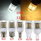 E27/E14/B22/G9/GU10 10W 42 LED 2835 SMD Cover Corn Light Lamp Bulb AC 110