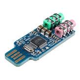 3Pcs Free Drive USB Sound Card Notebook Computer External Sound Card Module USB CM108 Sound Card Chip