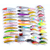 ZANLURE 46 Pcs ABS pesca Señuelo Spinning River Sea Lakes Baits pesca Tackle