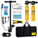 2x0.5L Yellow DEDEPU Scuba Diving Tank Mini Scuba Tank Air Oxygen Cylinder Underwater Diving Set With Adapter & Storage Box Diving Set equipment 11 In 1