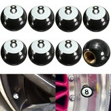 8pcs Universal Car Truck Motor Bike Pool 8 Ball Tire Air Valve Stem Caps Wheel Rim Caps Bolt