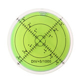 60mm Large Spirit Bubble Level Degree Mark Surface Circular Measuring Bulls Eyes