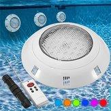 18W RGB LED natação Piscina luz subaquática impermeável Controle Remoto Wall Mounted Night Light